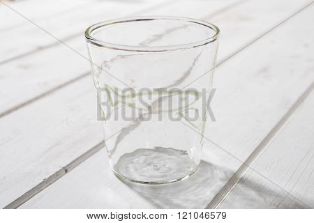 Crystal Drinking Glass With Gray Fish Design