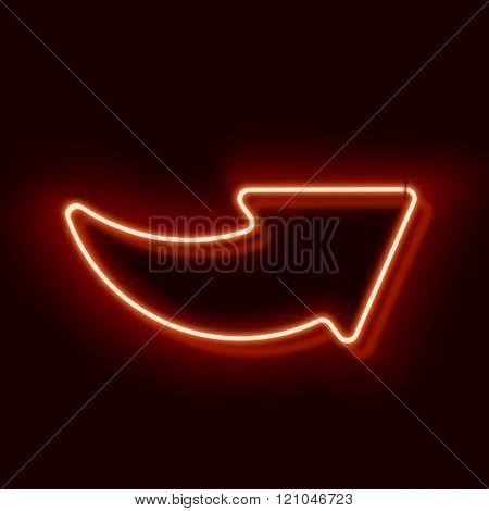 Neon arrow symbol