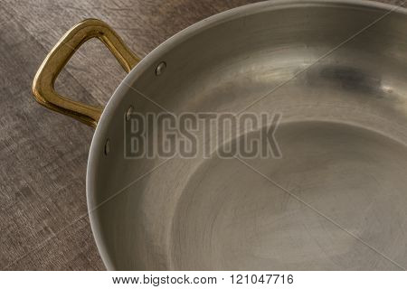 Cooking Pot Brass Handle And Interior