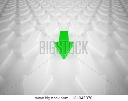 Different green arrow