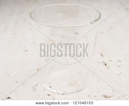 Crystal Drinking Glass With White Fish Design