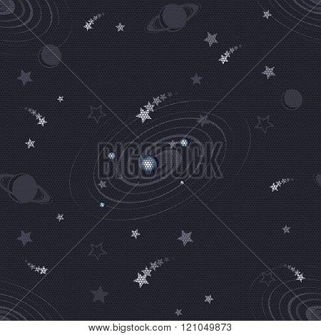 meteor rain space pattern tileable seamless eps