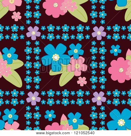 Floral Background, Vector Floral Pattern