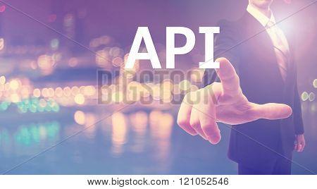 Api Concept With Businessman