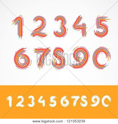 Painted vector numbers