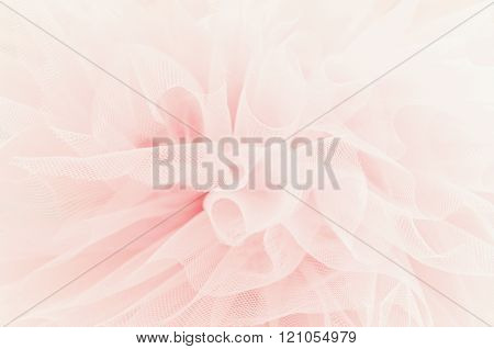 Beautiful layers of delicate pink fabric. 
