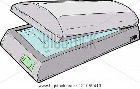 Open Flatbed Scanner