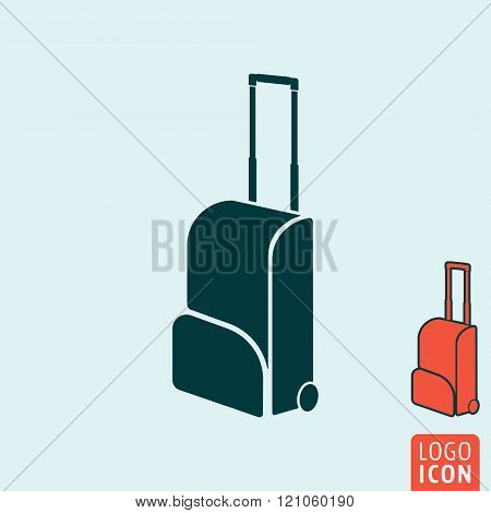 Travel Bag Icon Isolated