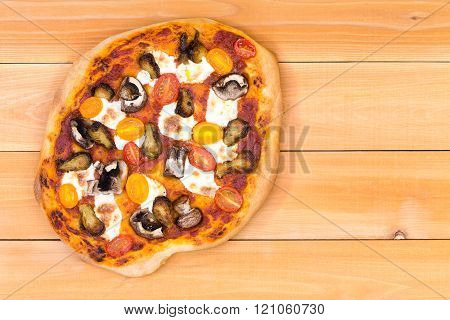 Fresh Personal Sized Vegetarian Pizza