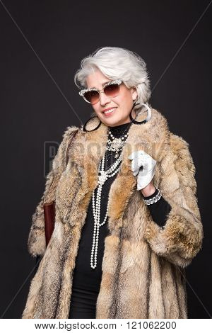 Senior rich woman