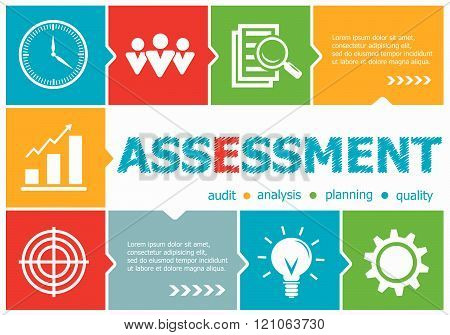 Assessment Design Illustration Concepts For Business, Consulting, Management, Career.