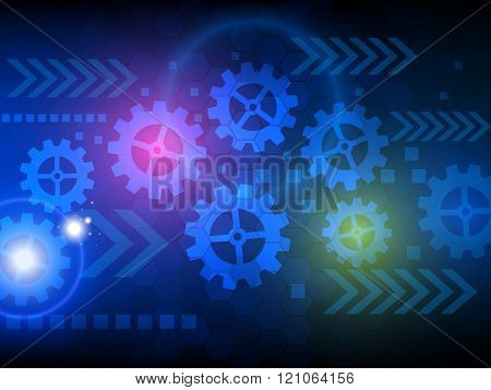 Abstract Engineering Technology Background Vector Template Design