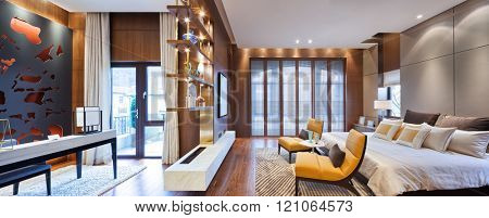 decoration and furniture in moder n bedroom