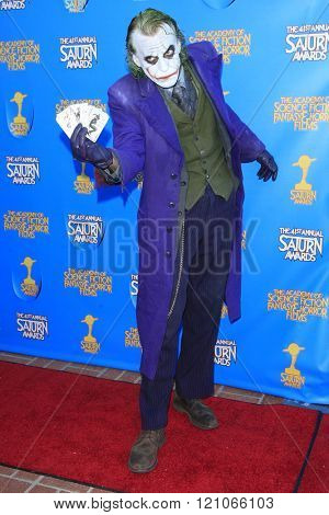 BURBANK - JUN 25: Jesse Oliva, Cosplayer, The Joker at the 41st Annual Saturn Awards at The Castaway on June 25, 2015 in Burbank, California,