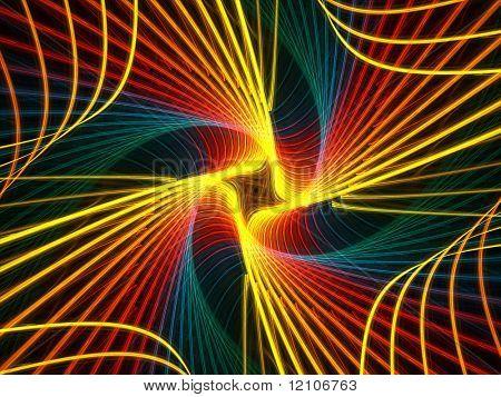 rainbow spiral fractal