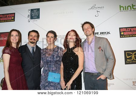 LOS ANGELES - FEB 28:  Carly Ritter, Jason Ritter, Melanie Lynskey, Amy Yasbeck, Tyler Ritter at the Style Hollywood Viewing Party 2016 at the Hollywood Museum on February 28, 2016 in Los Angeles, CA