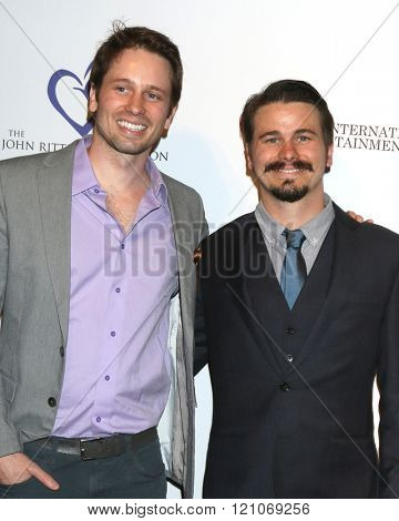 LOS ANGELES - FEB 28:  Jason Ritter, Tyler Ritter at the Style Hollywood Viewing Party 2016 at the Hollywood Museum on February 28, 2016 in Los Angeles, CA