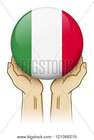 Pray For Italy Illustration