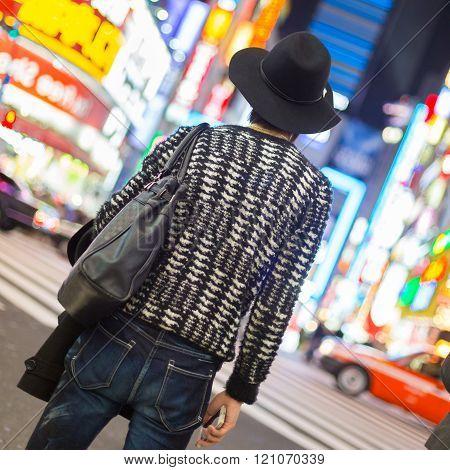 Man in Shinjuku, Tokyo, Japan.