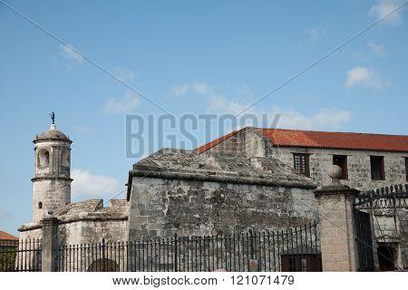 Fortress Of Royal Force - Castillo De La Real Fuerza In Old Part Of Habana, Capital City Of Cuba.