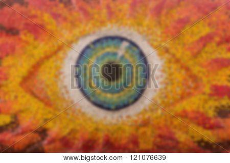 Colorful Glass Mosaic Art Shape Eyes Of God.