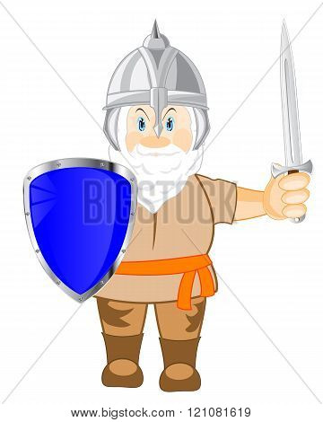 Medieval warrior with weapon