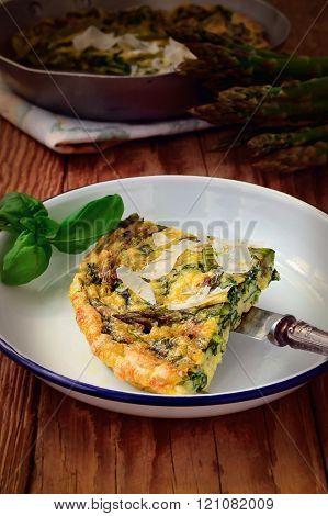Vegetable Frittata. Omelette.
