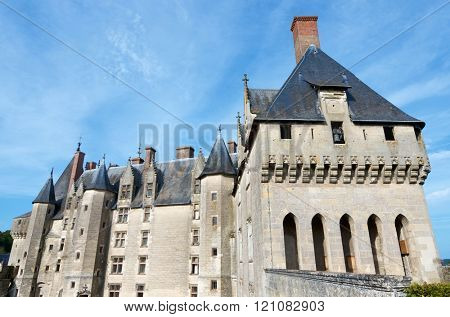 Langeais Castle, Loire Valley, France. Built in the 15th century on the ruins of an ancient fortress.