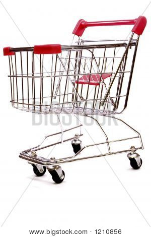Shopping Trolley On White Background 1