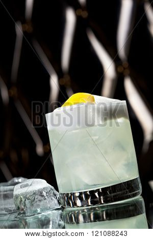 Vodka Sour - Cocktail with Vodka, Sugar Syrup, Lemon Juice and Egg White