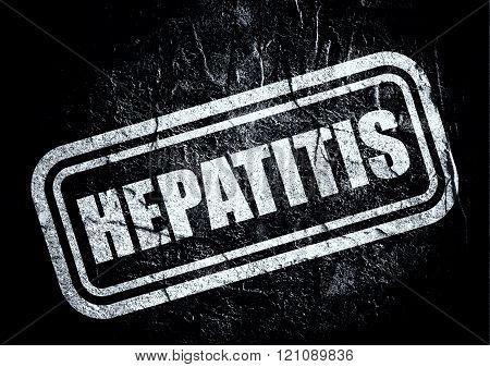 Stamp With Hepatitis Text Over Grunge Background
