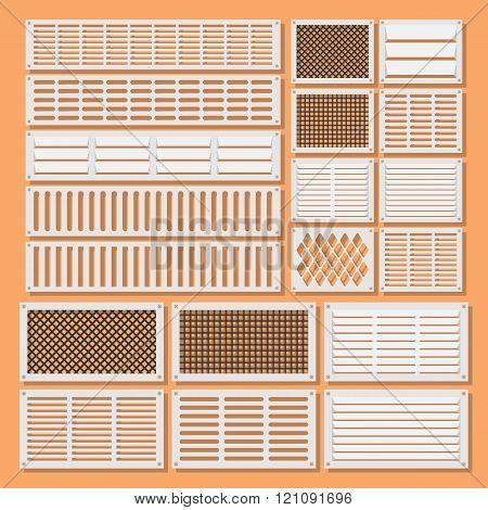 horizontal ventilation shutters