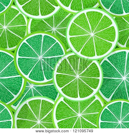 Citrus seamless vector pattern. Lime