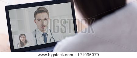 Doctor giving advice to his patient