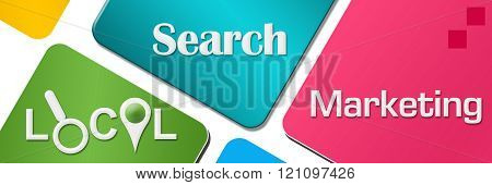 Local Search Marketing Colorful Rounded Squares Horizontal