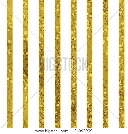 Golden striped seamless pattern set