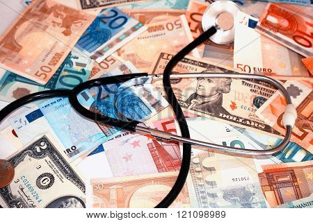medical, health, hospital and money . .