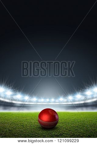 Generic Floodlit Stadium With Cricket Ball