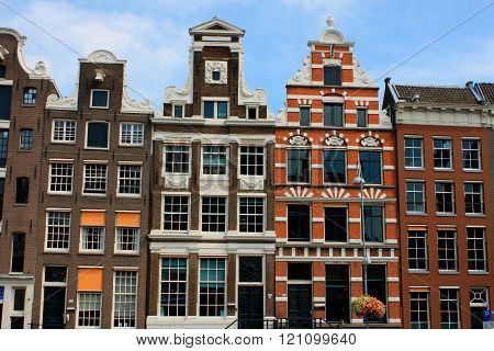 Sloping Houses In Amsterdam