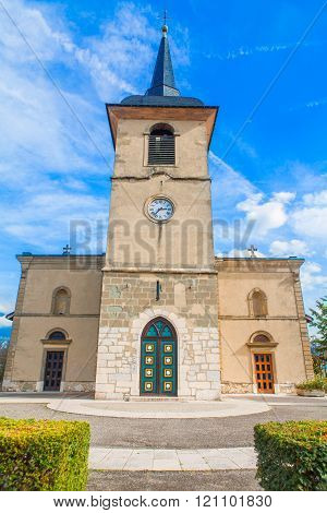 catholic church with horologe