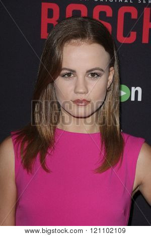 LOS ANGELES - MAR 3:  Mackenzie Lintz at the Bosch Season 2 Premiere Screening at the Silver Screen Theater at the Pacific Design Center on March 3, 2016 in West Hollywood, CA