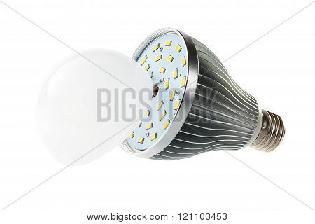 LED lamp with open hood
