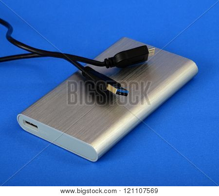 Picture of an USB 3 external hard drive
