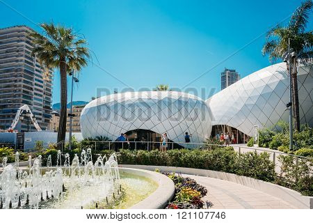 Modern buildings is Monte-Carlo Pavillions
