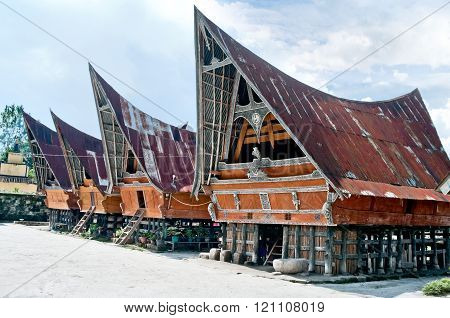 Traditional Batak House On The Samosir Island,  Indonesia