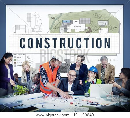 Construction Industry Building Architecture Infrastructure Concept