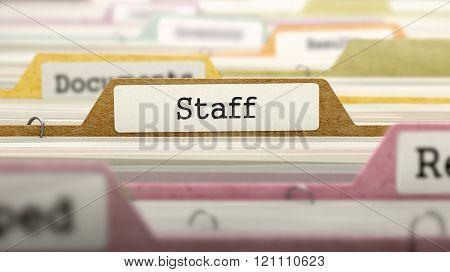 Staff Concept. Folders in Catalog.