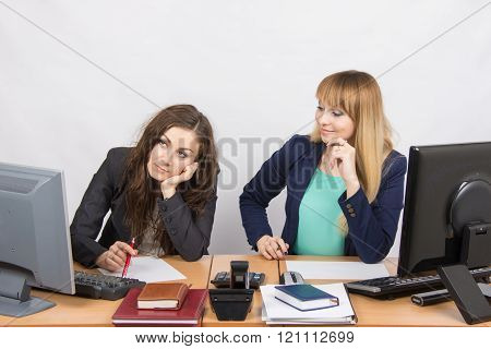 The Situation In The Office - One Girl Is Very Upset, Others Are Pretty Straightens Things On Your D