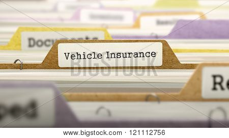Vehicle Insurance - Folder Name in Directory.