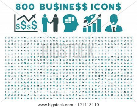800 Flat Vector Business Icons